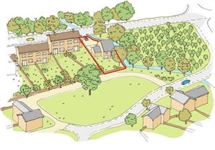 Example drawing of self build site layout