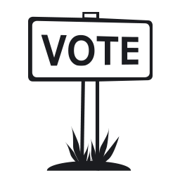 Black icon - voting sign