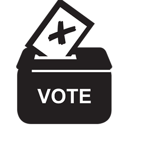 Black icon - voting