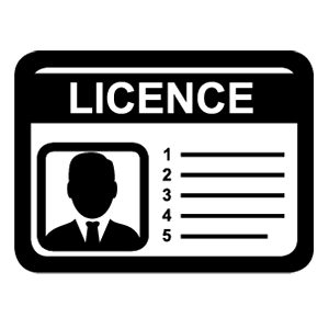 Black icon - Licence card male