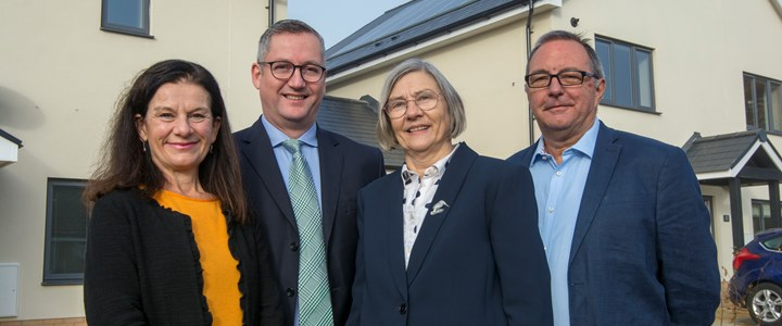 New Council houses made homes by Gamlingay residents