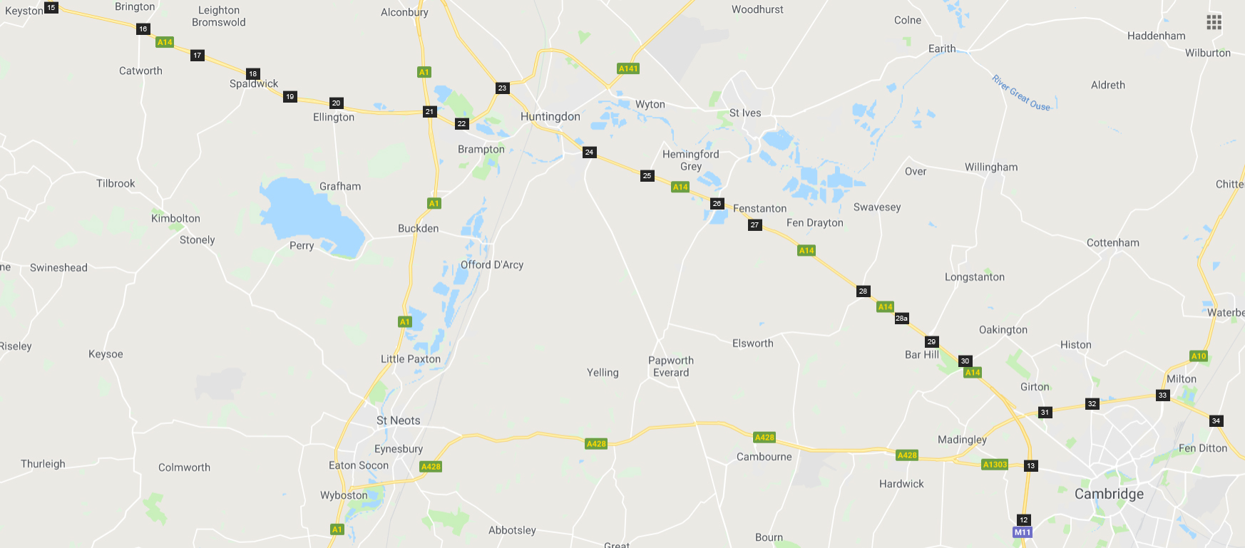 A14 Road closures - updated weekly - South Cambs District Council