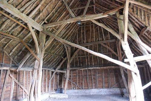 Internal view of the Tithe Barn