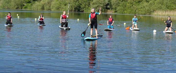 Teens take to the water in paddle board race ahead of Parklife on Sunday