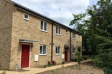 Council homes at Longstanton