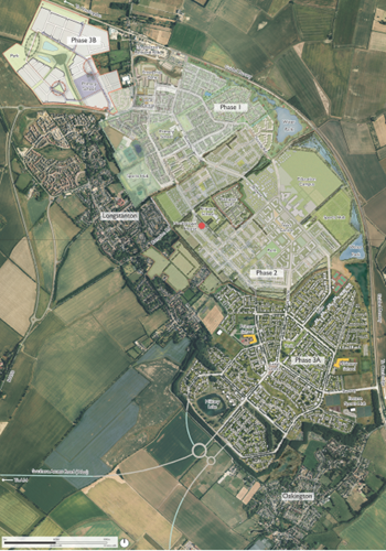 A Map showing the extent of the Northstowe Development